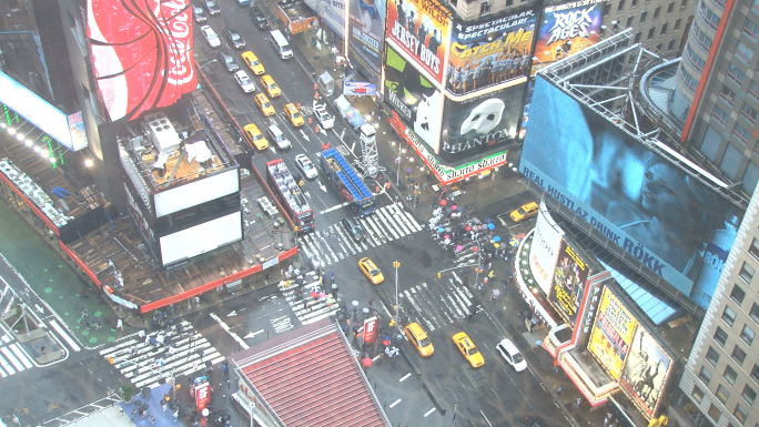 Looking Down at Times Square in New York 10