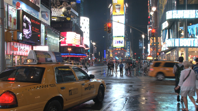 Taxi Idling in Times Square