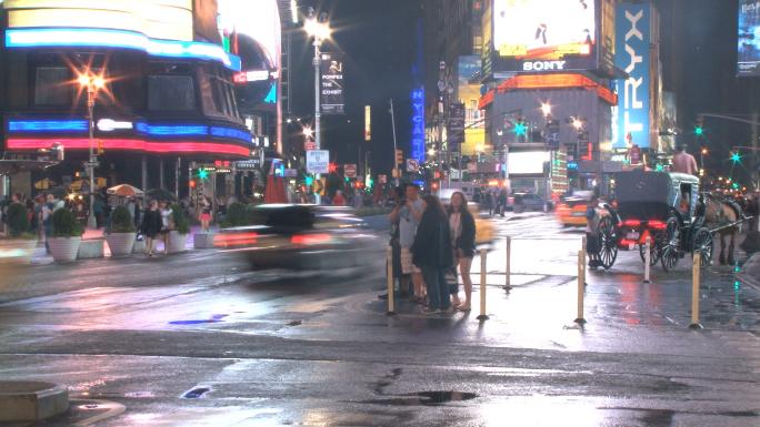 Corner of New York City Intersection Timelapse