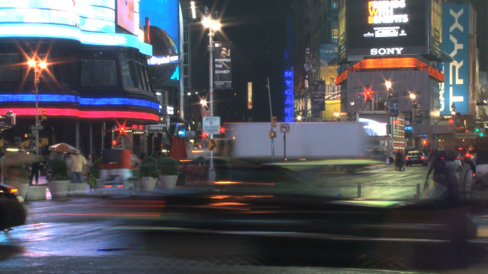 Corner of New York City Intersection Timelapse 4
