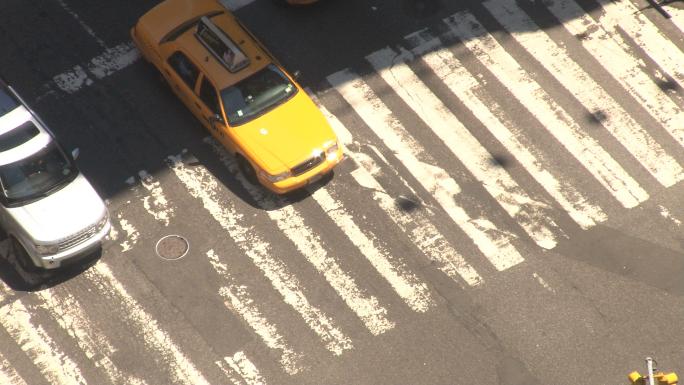 Closeup of New York City Crosswalk