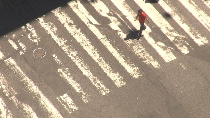 Closeup of New York City Crosswalk 3