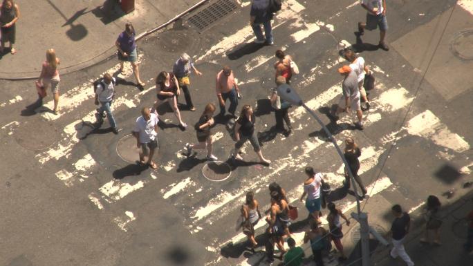 Closeup of New York City Crosswalk 5