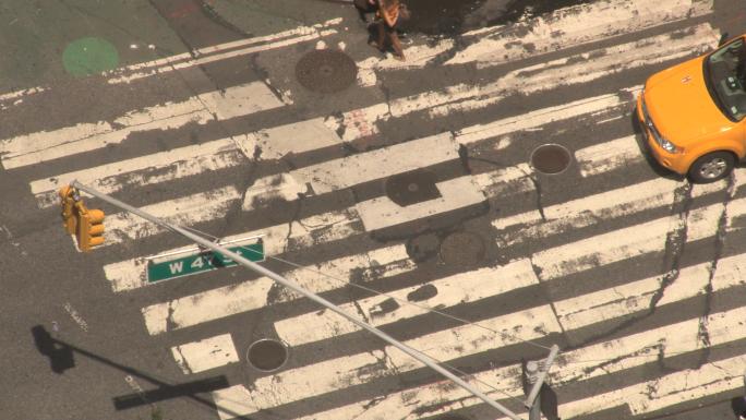 Closeup of New York City Crosswalk 6
