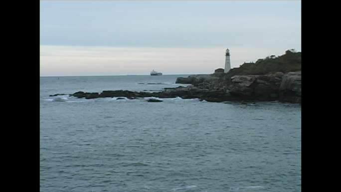 White Lighthouse in the Distance