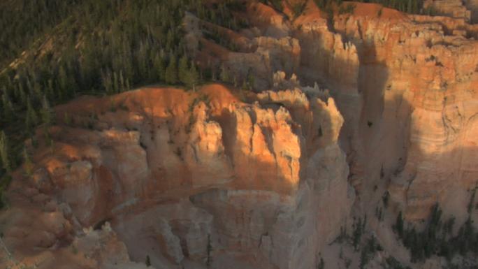 Orange and Green Cliffs