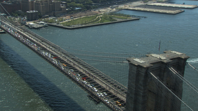 Flying Over the Brooklyn Bridge Zoom In