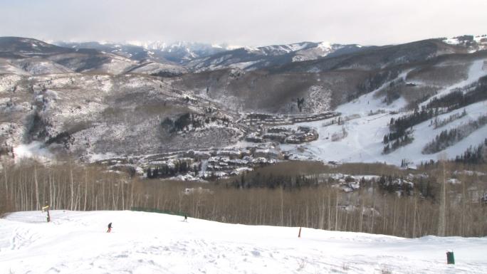 Scenic View Skiing
