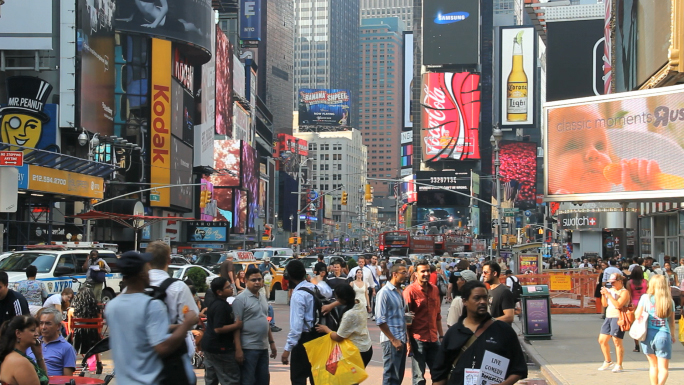 Hustle and Bustle of Times Square