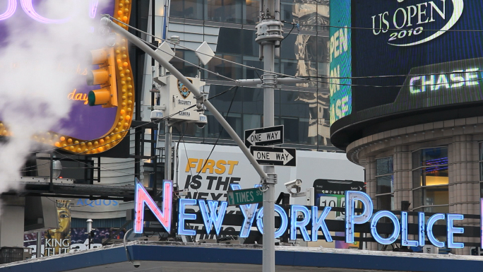 New York Police Department Sign