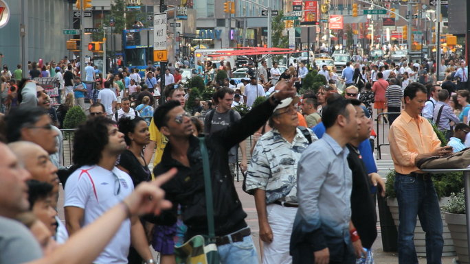 Times Square Crowds 2