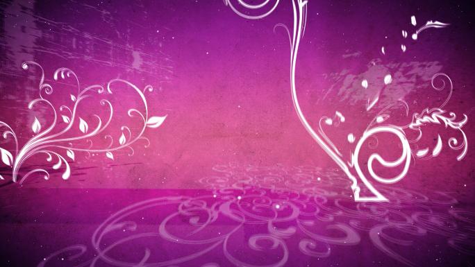 Circling Pink Flourishes