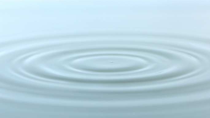 Slow Motion Rippling Water Droplets