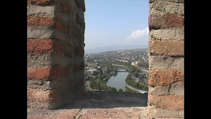 Tbilisi from Narikala Fortress  Republic of Georgia