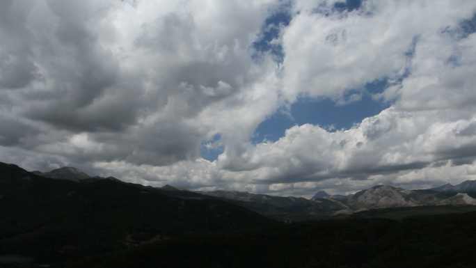 Clouds Over Mountain Range 2