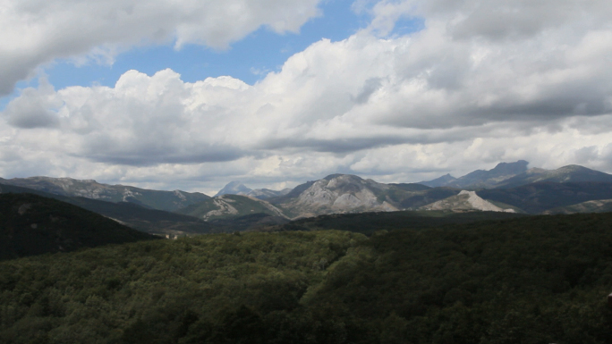 Clouds Over Mountain Range