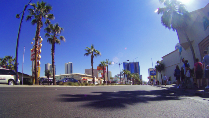 Time Lapse Driving Through Las Vegas