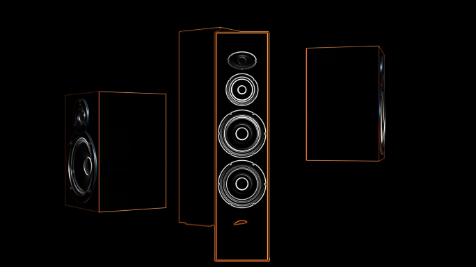Transparent Alpha Channel Looping Speaker System