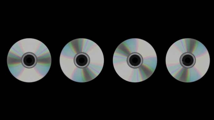 Scrolling CDs or DVDs Transparent Alpha Channel Loop