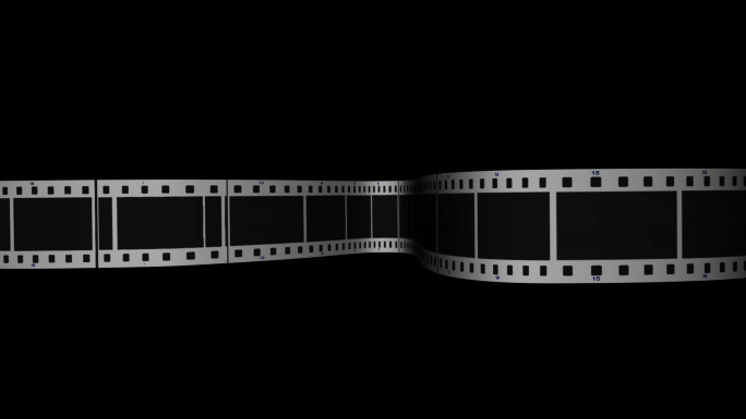 Scrolling Film Strip 2 Transparent Alpha Channel Loop