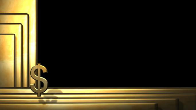 Golden Border with Transparent Alpha Channel