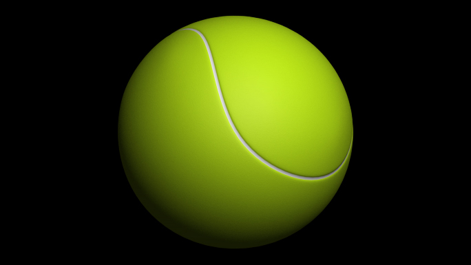 Transparent Tennis Ball Alpha Channel Loop