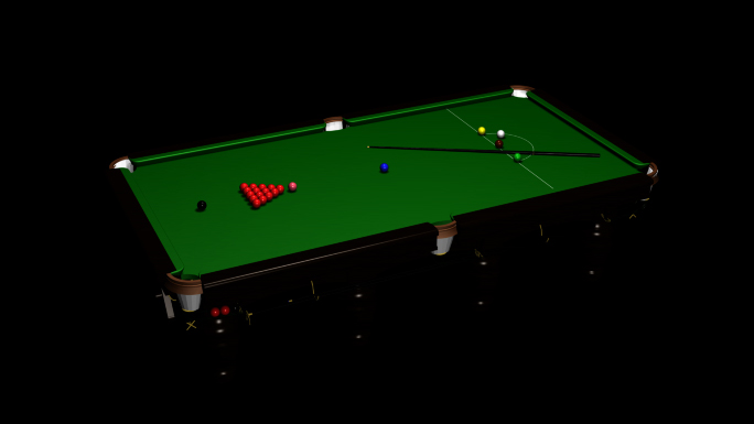 Transparent Pool Table Alpha Channel Loop