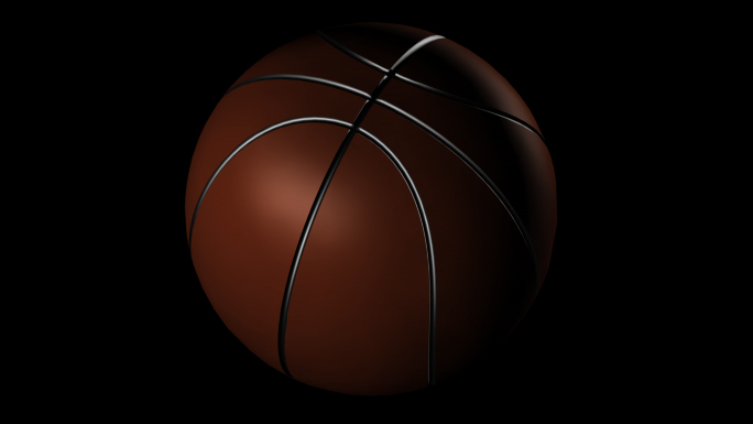 Transparent Basketball Alpha Channel Loop