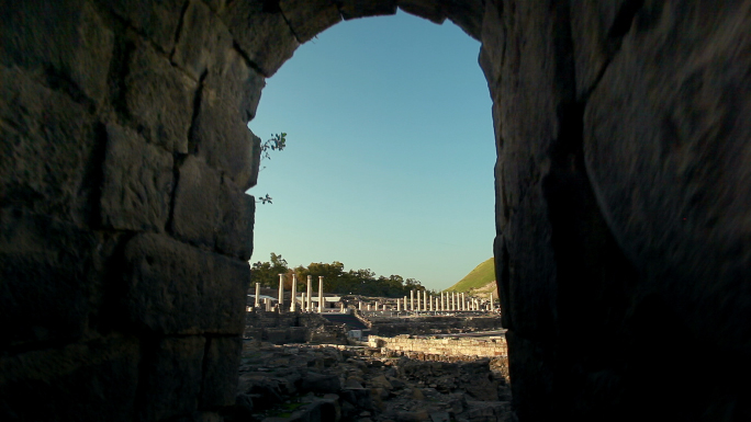Tunnel Archway at Beit Shean Ruins in Israel
