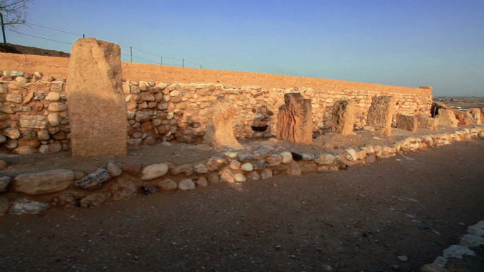 Wall and Stones of Ruins in Israel