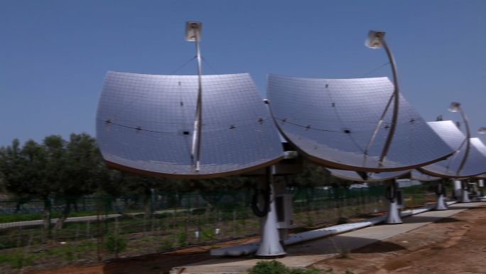 Array of Solar Panels in Desert 3