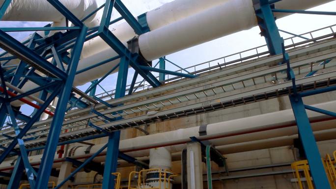 Crossing Pipes at Ashkelon Seawater Reverse Osmosis Plant