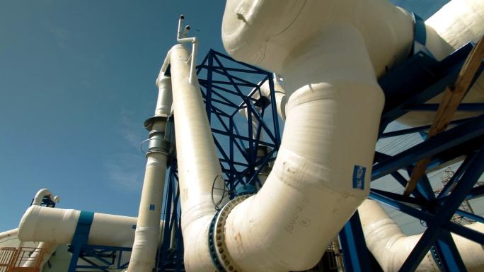 Pipes at Ashkelon Seawater Reverse Osmosis Plant