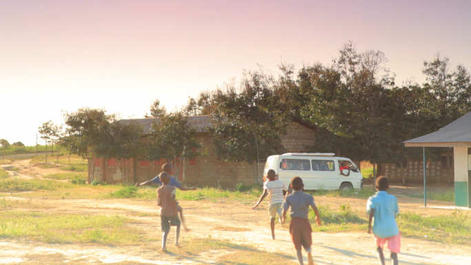 Children Playing Soccer on the Fields