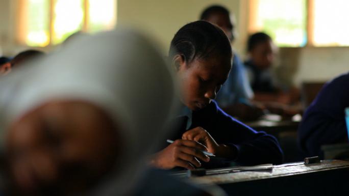 Student Doing Classwork in Kenya