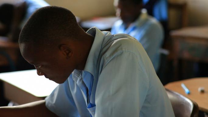 School Boy in Class in Kenya 2