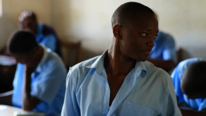 School Boy in Class in Kenya 3