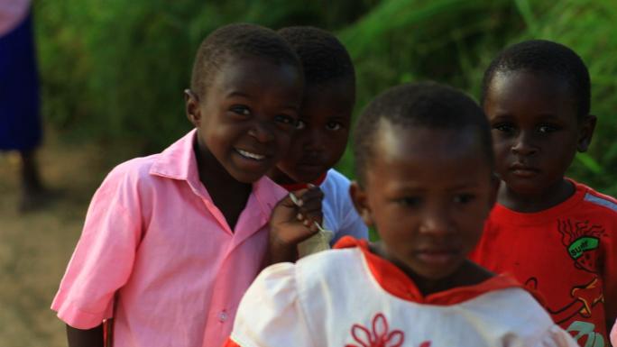 Kenya Kids Looking at the Camera and Smiling 2