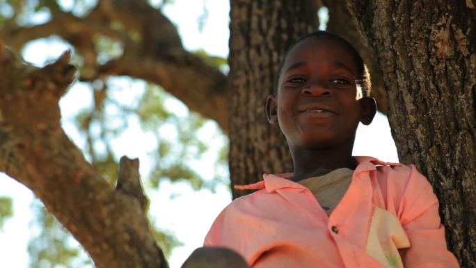 Two Kids in a Tree in Kenya
