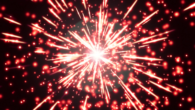 Red Fireworks Free Stock Photo
