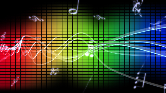 Colorful Music Waveform Black Background - Unlimited Free Stock