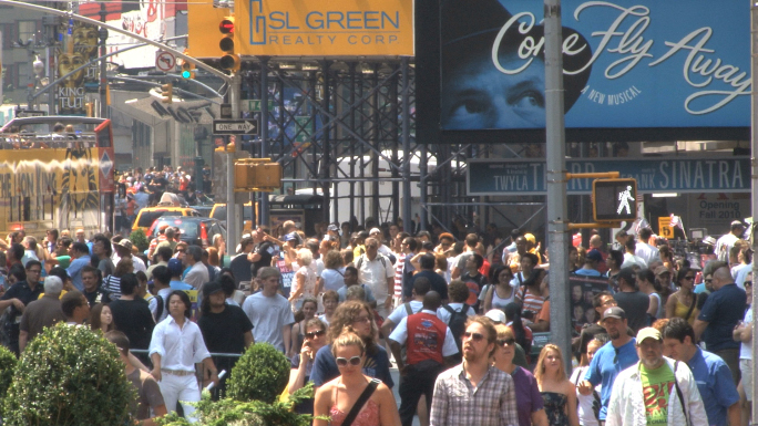 Times Square Crowd 2