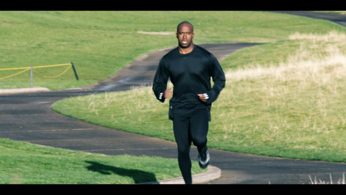 Black Man Running on a Trail in Slow Motion 2 - Unlimited