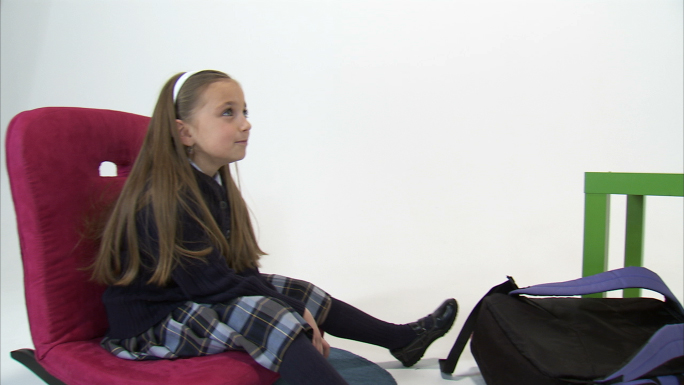 Twin Eight Year Old Girls Relaxing After School 2