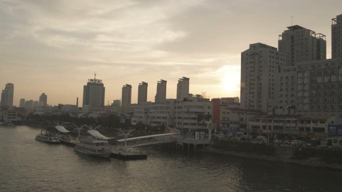 Sunset of Yalu River Near Broken Bridge 2