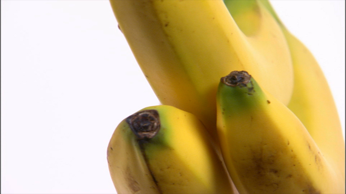 Bananas Rotating on White Background 2