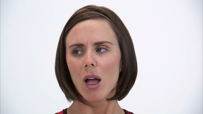 Woman Looking Overly Agitated