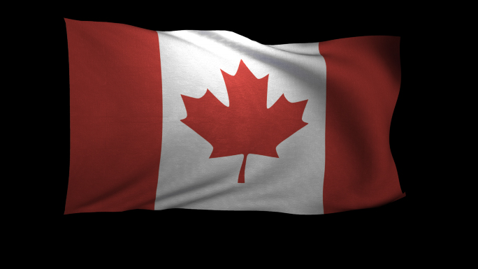 Canada Flag 3D Rendering with Alpha Channel