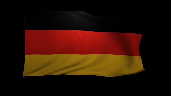 Germany Flag 3D Rendering with Alpha Channel
