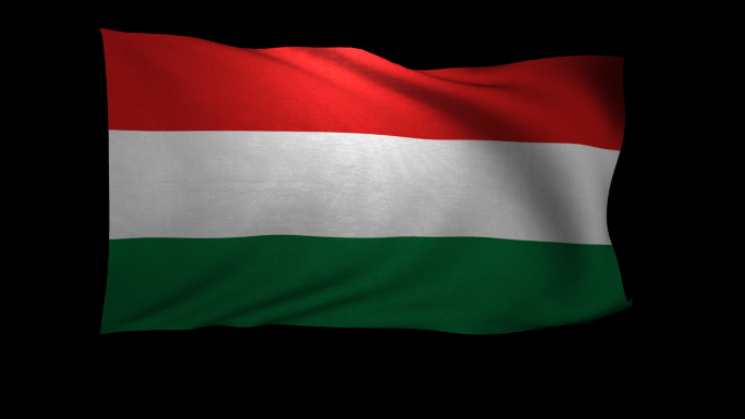 Hungary Flag 3D Rendering with Alpha Channel